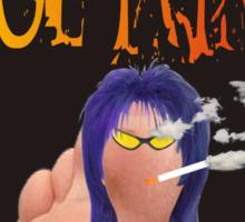 Toe Punk by Darryl Kravitz Sticker