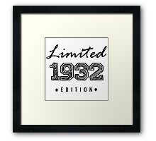 Limited edition 1932 Framed Print