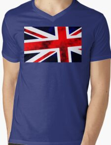 Union Jack A Mens V-Neck T-Shirt