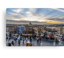 Life in Rome Canvas Print