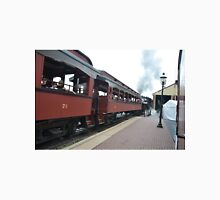 Strausburg Train Cars Backing out of Station Unisex T-Shirt