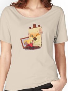 Calvin And Hobbes Sketch Women's Relaxed Fit T-Shirt