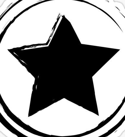 Vintage Star black Sticker