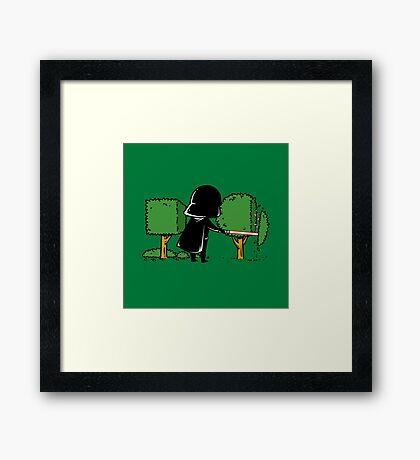 Part Time Job - Gardening Framed Print