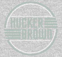 Hucker Brown - retro blue logo Kids Tee