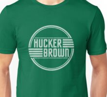 Hucker Brown - retro blue logo Unisex T-Shirt