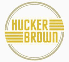 Hucker Brown - retro yellow logo One Piece - Short Sleeve