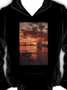 Sunset at the port T-Shirt