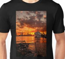 Sunset at the port Unisex T-Shirt
