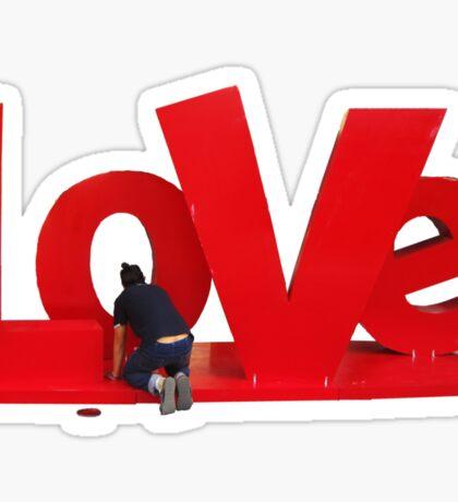 LOVE requires maintenance Sticker