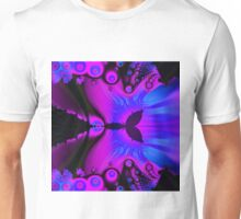 Pink and blue fractal with circles designs Unisex T-Shirt