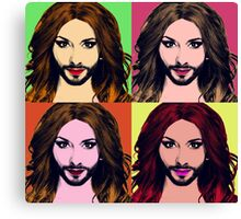 Conchita Wurst - Pop Art Canvas Print