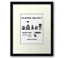 Classic game boy player select Framed Print