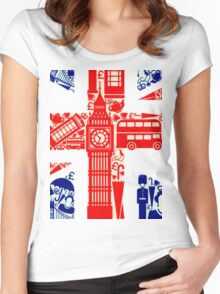 Landmark and Flag 2 Women's Fitted Scoop T-Shirt