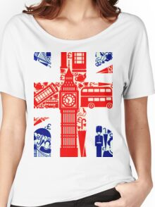 Landmark and Flag 2 Women's Relaxed Fit T-Shirt