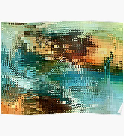 Abstract space by rafi talby Poster