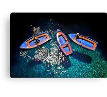 Boat chatting Canvas Print