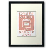 Badger Jam Framed Print