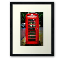 Phone Box Cover red Framed Print