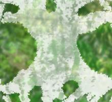 Greenery and a White Tree Sticker