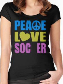 Peace Love Soccer Women's Fitted Scoop T-Shirt