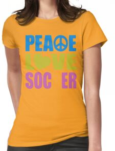 Peace Love Soccer 578 Womens Fitted T-Shirt