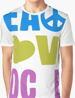Peace Love Soccer 578 Graphic T-Shirt