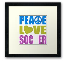 Peace Love Soccer 578 Framed Print