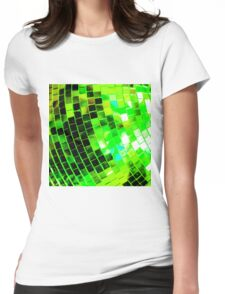 Funky Green Disco Ball Womens Fitted T-Shirt