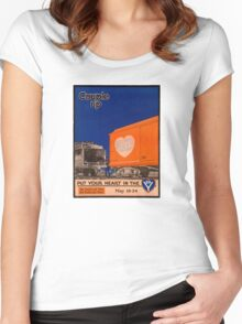 Couple Up Vintage Railroad Poster Women's Fitted Scoop T-Shirt