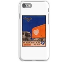 Couple Up Vintage Railroad Poster iPhone Case/Skin