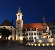 Old Town Hall by Night, Bratislava: Slovakia by shoelock