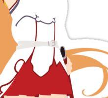 Asuna from Sword Art Online (White Text) Sticker