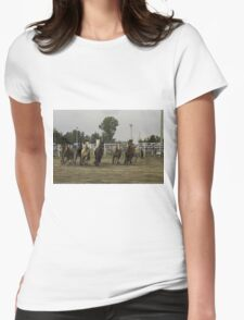 Horses at a trot Womens Fitted T-Shirt
