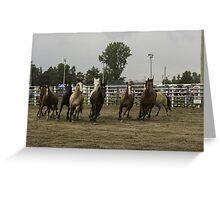 Horses at a trot Greeting Card