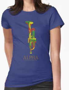 Alpha Great Jamaican Musician Womens Fitted T-Shirt