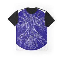 Vitruvian Coupling Blue Graphic T-Shirt