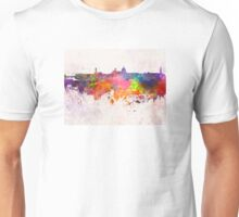 Florence skyline in watercolor background Unisex T-Shirt