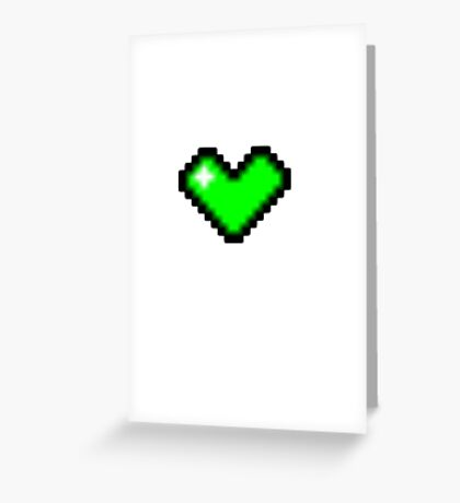 Video Game Heart [Green] Greeting Card