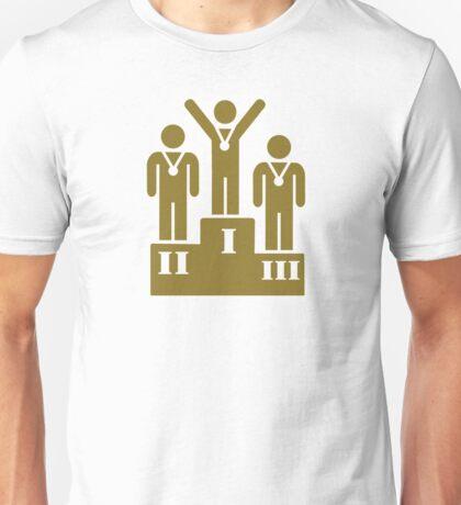 Podium champion medal Unisex T-Shirt