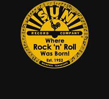 "SUN RECORD COMPANY "" WHERE ROCK N ROLL WAS BORN"" YELLOW Unisex T-Shirt"
