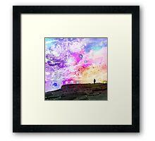 Wanderer in the Sea of Stars Framed Print