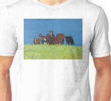 Herd of horses relaxing Unisex T-Shirt
