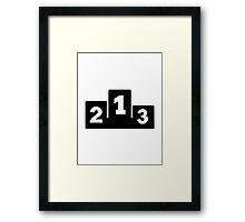 Podium winners Framed Print