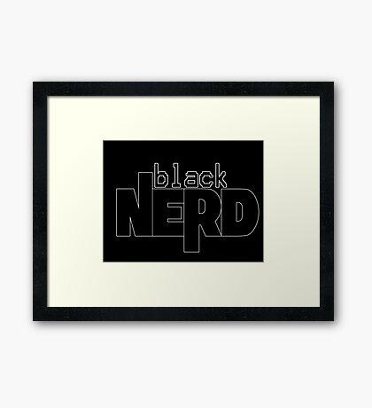 Black Nerd Framed Print