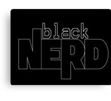 Black Nerd Canvas Print