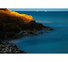 Sea view at night  Photographic Print