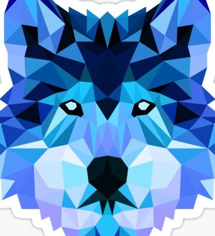 Blue Wolf Sticker