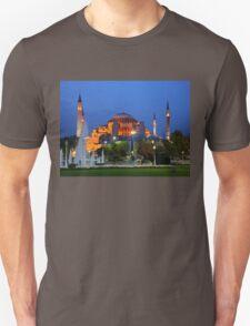 Blue hour in Hagia Sophia Unisex T-Shirt