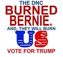 DNC BURNED BERNIE AND THEY WILL BURN US Photographic Print